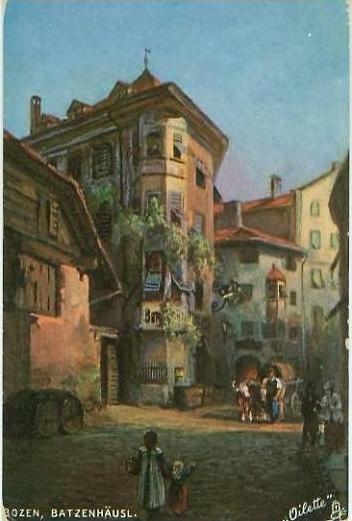 Bozen v. 1912  Batzenhäusl-Künstlerkneipe  (24511)