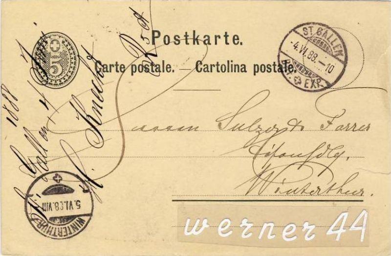 St. Gallen v. 1888  - siehe Foto !!  (26225)