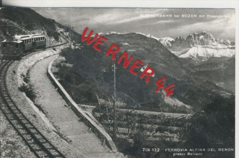 Bei Bozen v. 1968  Rittnerbahn mit Rosengarten --  siehe Foto !!  (29090)