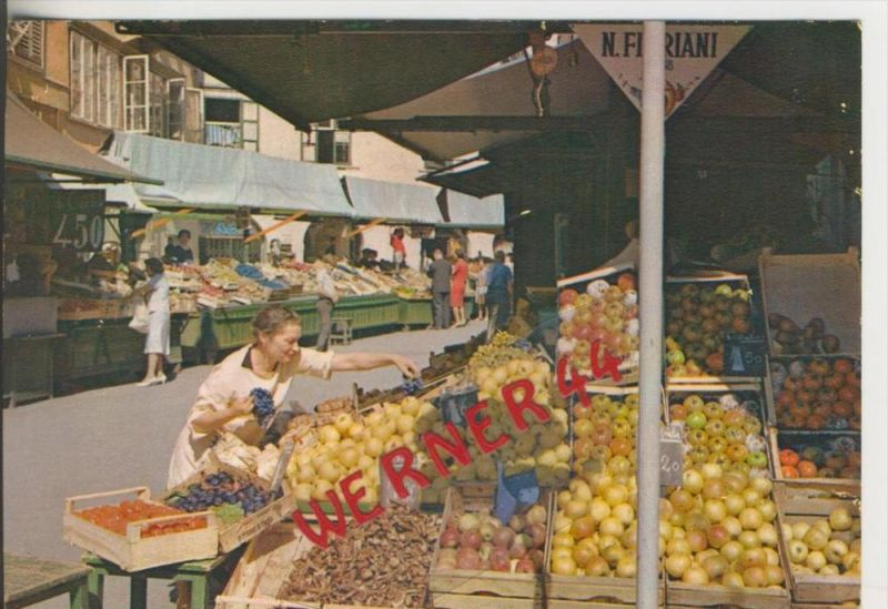 Bozen v. 1968  Der Obstmarkt --  siehe Foto !!  (29093)