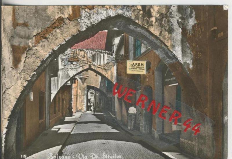 Bozen v. 1968  Dr. Streitergasse  mit Metallgeschäft  --  siehe Foto !!  (29094)