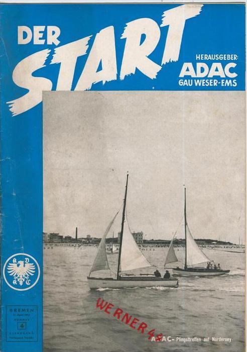 ADAC Gau Weser-Ems, Der Start  1954 - Nr. 4 -- siehe beschr. !!