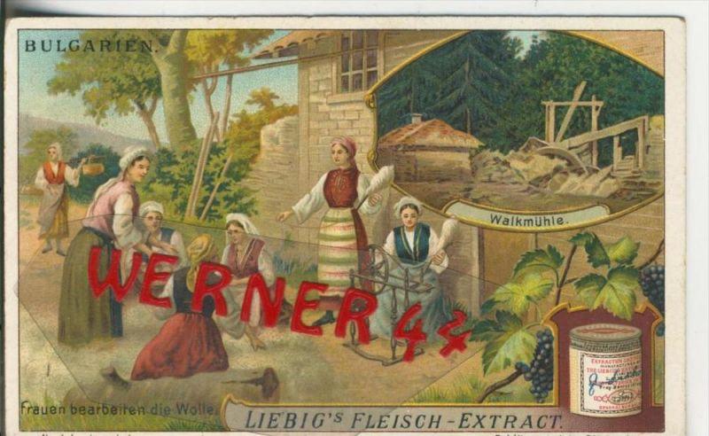 Liebig`s - Bulgarien, Walkmühle,Frauen bearbeiten die Wolle -- Sammelbild   (14)