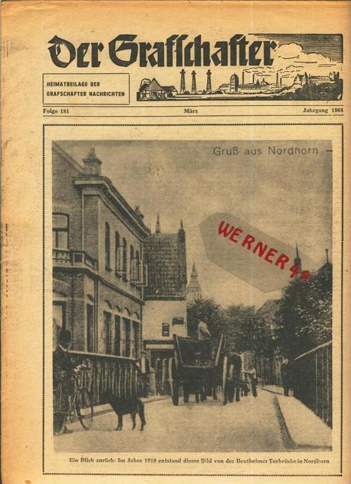 Der Grafschafter , Folge 181, März 1968  --  siehe Foto !!   (0) 0