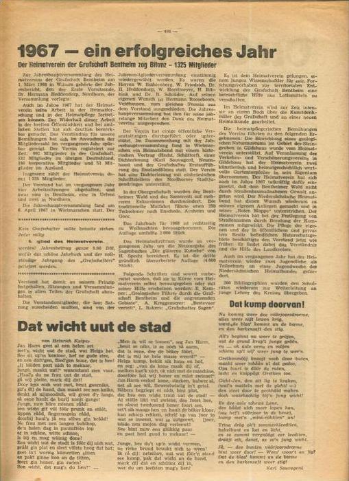 Der Grafschafter , Folge 181, März 1968  --  siehe Foto !!   (0) 5