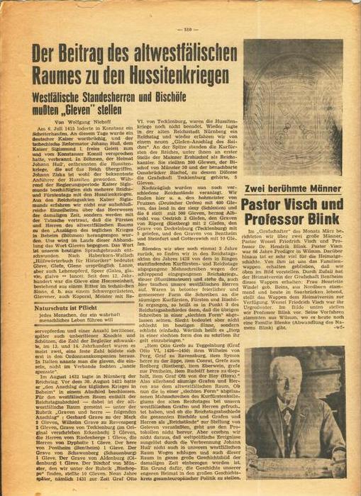 Der Grafschafter , Folge 182, April 1968  --  siehe Foto !!   (0) 3