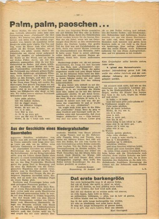 Der Grafschafter , Folge 182, April 1968  --  siehe Foto !!   (0) 4