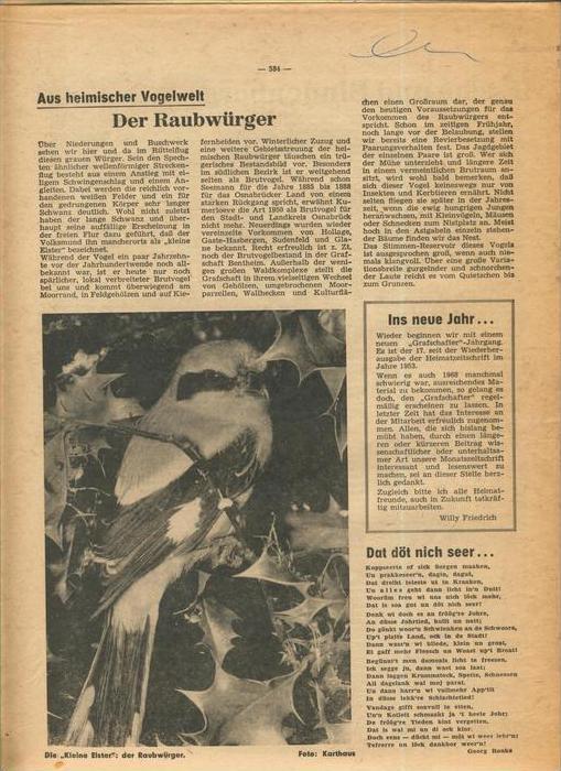 Der Grafschafter , Folge 191, Januar 1969  --  siehe Foto !!   (0) 3