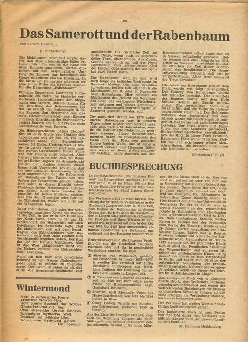Der Grafschafter , Folge 191, Januar 1969  --  siehe Foto !!   (0) 5