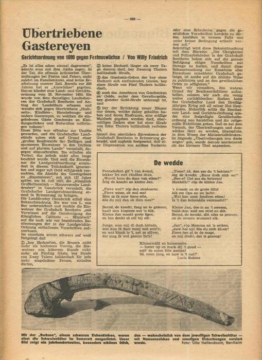Der Grafschafter , Folge 192, Februar 1969  --  siehe Foto !!   (0) 4