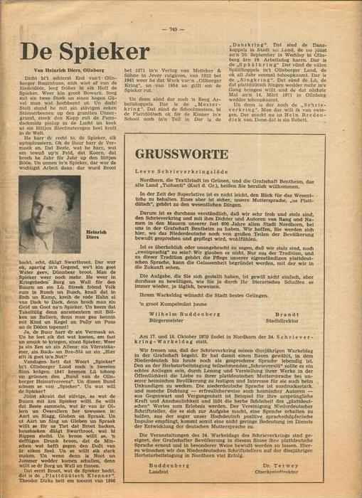 Der Grafschafter , Folge 211, Oktober 1970  --  siehe Foto !!   (0) 1