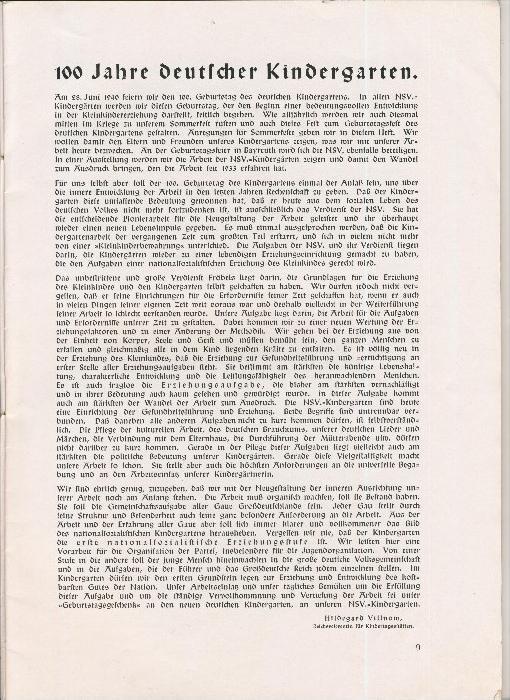 Rundbrief für Kindergärtnerinnen v. 1940   Heft 2  - siehe Foto !!  (ohne) 2