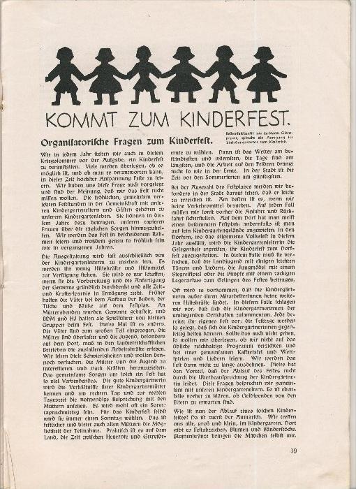 Rundbrief für Kindergärtnerinnen v. 1940   Heft 2  - siehe Foto !!  (ohne) 5