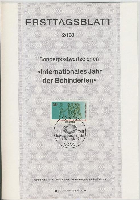 BRD - ETB (Ersttagsblatt)  2/1981 0