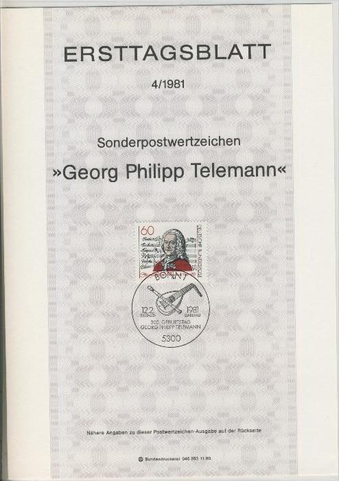 BRD - ETB (Ersttagsblatt)  4/1981 0