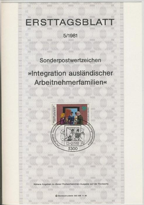 BRD - ETB (Ersttagsblatt)  5/1981 0