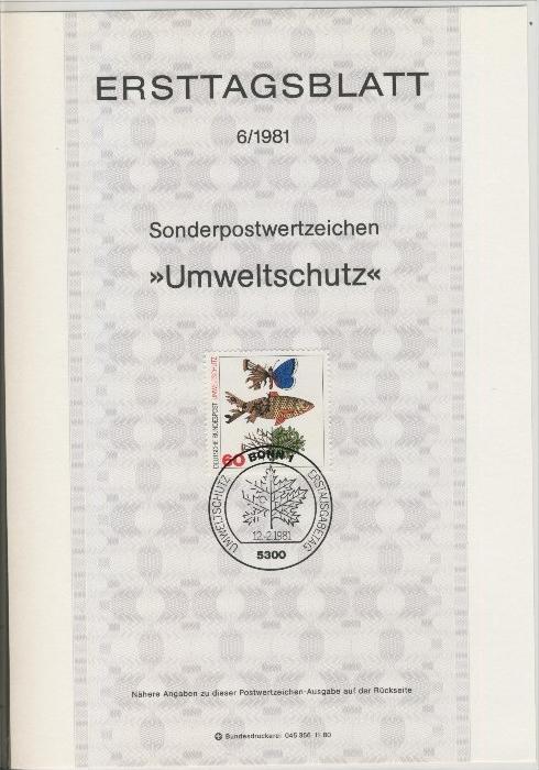 BRD - ETB (Ersttagsblatt)  6/1981 0