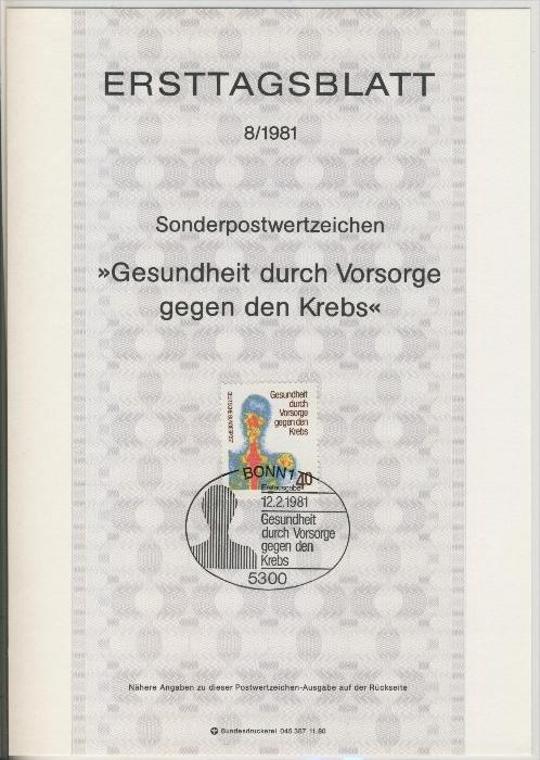 BRD - ETB (Ersttagsblatt)  8/1981 0