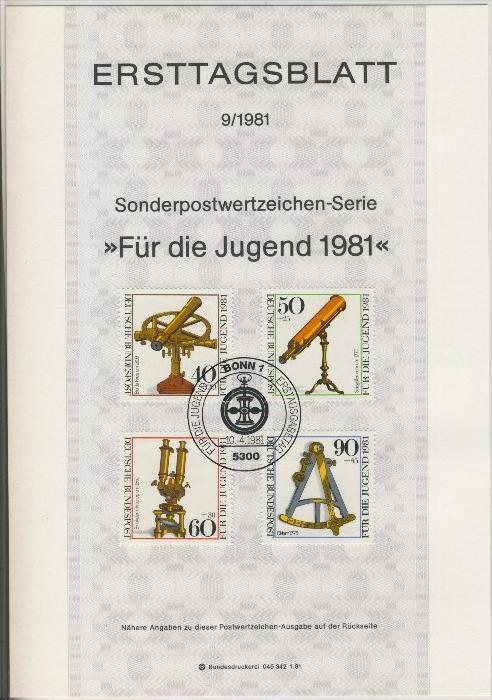 BRD - ETB (Ersttagsblatt)  9/1981 0
