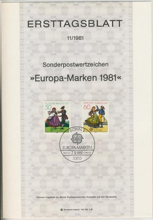 BRD - ETB (Ersttagsblatt)  11/1981 0