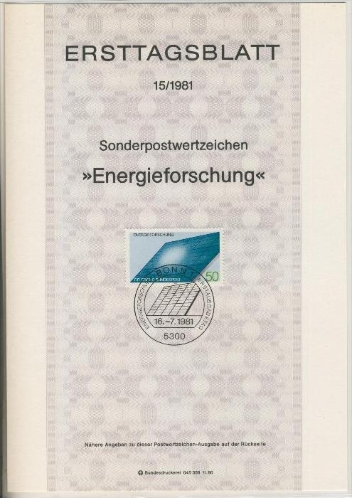 BRD - ETB (Ersttagsblatt)  15/1981 0
