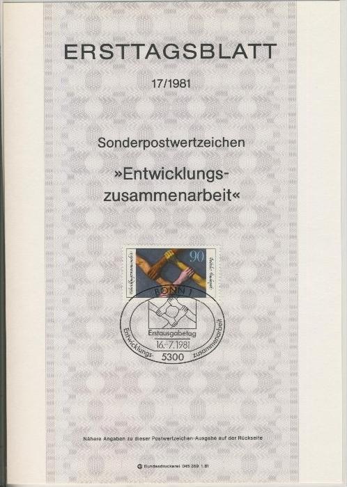 BRD - ETB (Ersttagsblatt)  17/1981 0