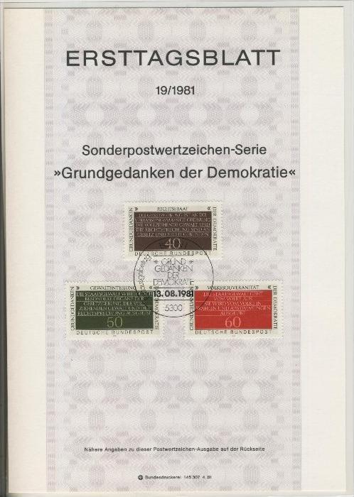 BRD - ETB (Ersttagsblatt)  19/1981 0