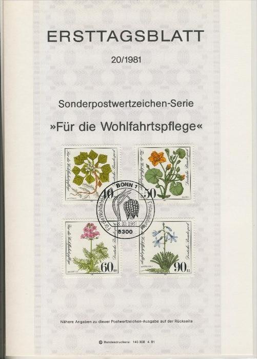 BRD - ETB (Ersttagsblatt)  20/1981 0