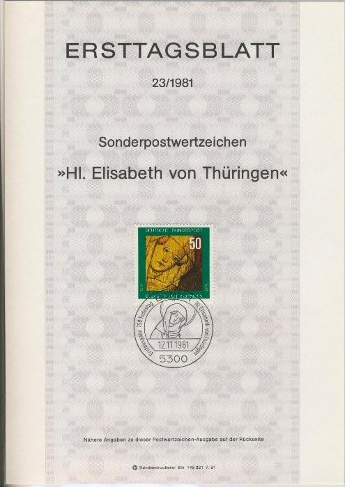 BRD - ETB (Ersttagsblatt)  23/1981 0