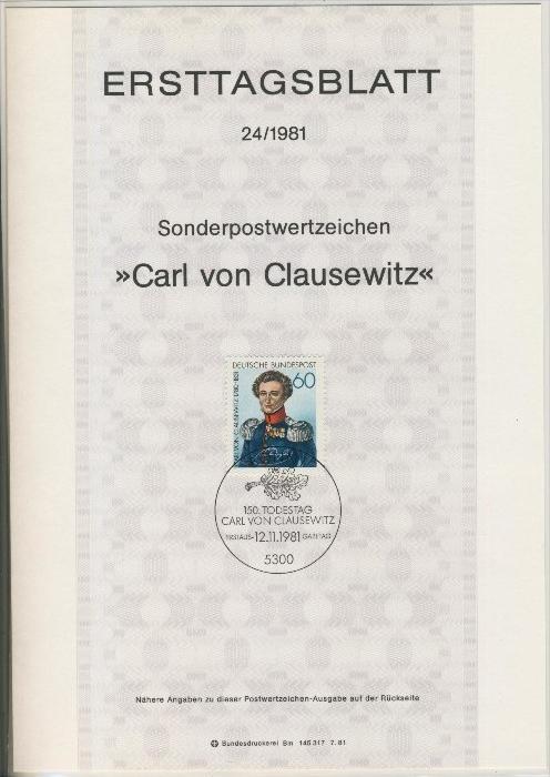BRD - ETB (Ersttagsblatt)  24/1981 0