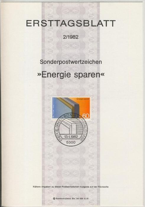 BRD - ETB (Ersttagsblatt)  2/1982 0