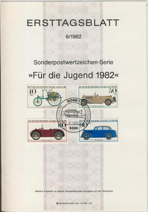 BRD - ETB (Ersttagsblatt)  6/1982 0
