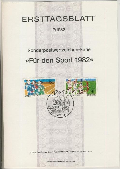 BRD - ETB (Ersttagsblatt) 7/1982 0