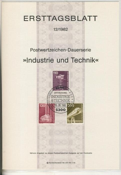 BRD - ETB (Ersttagsblatt) 12+14/1982 0