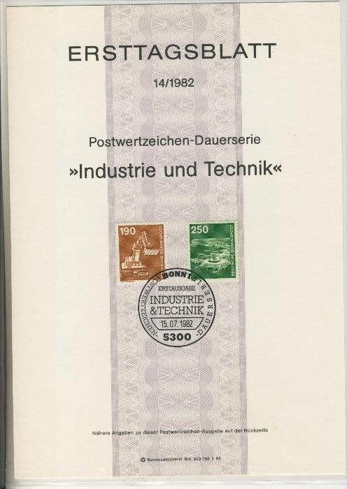 BRD - ETB (Ersttagsblatt) 12+14/1982 1