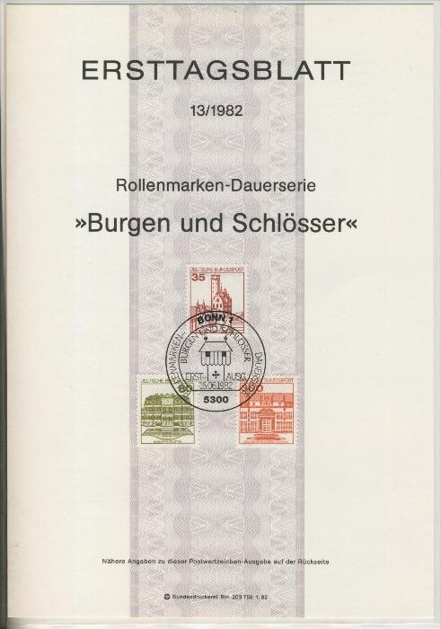 BRD - ETB (Ersttagsblatt) 13+15/1982 0