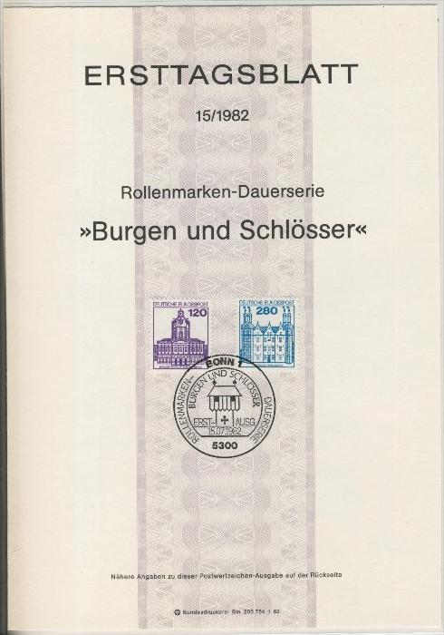 BRD - ETB (Ersttagsblatt) 13+15/1982 1
