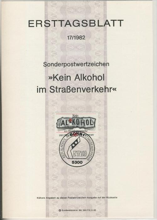 BRD - ETB (Ersttagsblatt) 17/1982 0