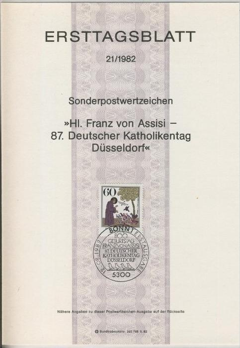 BRD - ETB (Ersttagsblatt) 21/1981 -- Weihnachten 1982 0
