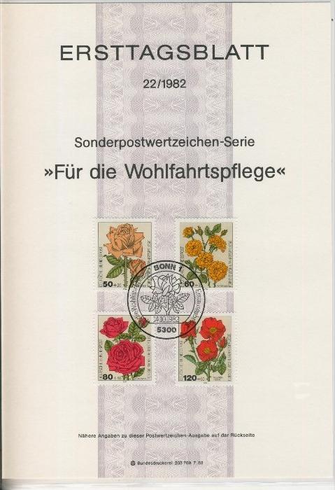 BRD - ETB (Ersttagsblatt) 22/1981 -- Weihnachten 1982