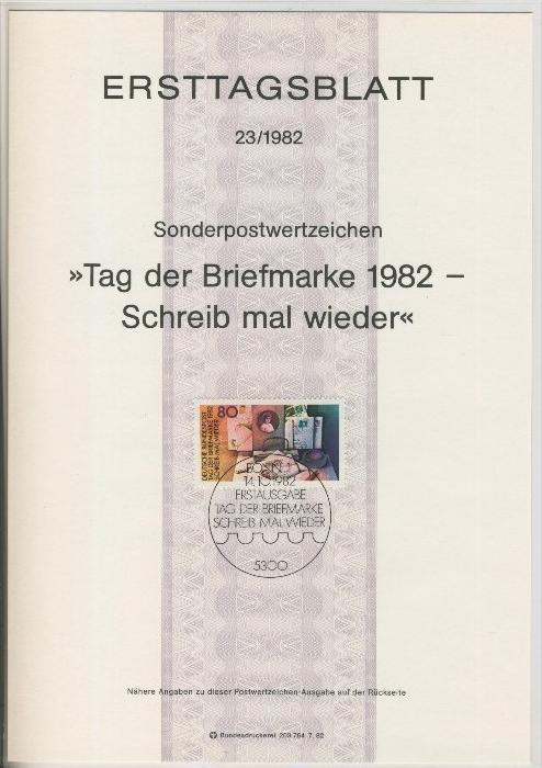 BRD - ETB (Ersttagsblatt) 23/1981 -- Weihnachten 1982