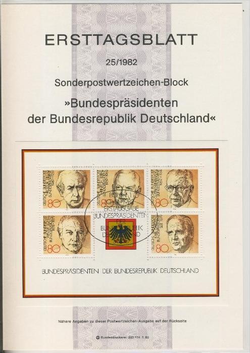 BRD - ETB (Ersttagsblatt) 25/1981 -- Weihnachten 1982