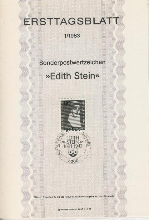 BRD - ETB (Ersttagsblatt) 1/1983 0