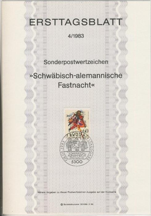 BRD - ETB (Ersttagsblatt) 4/1983 0