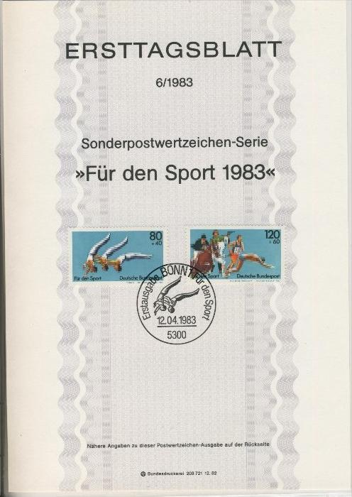 BRD - ETB (Ersttagsblatt) 6/1983 0