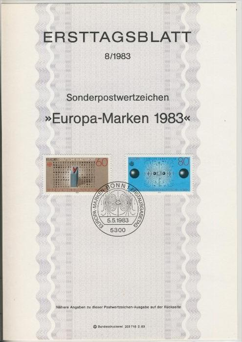 BRD - ETB (Ersttagsblatt) 8/1983 0
