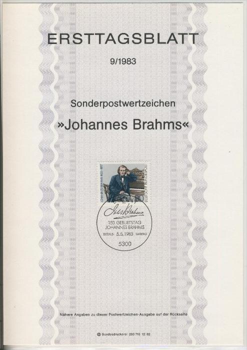 BRD - ETB (Ersttagsblatt) 9/1983 0
