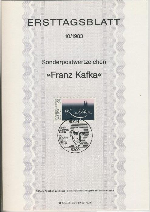 BRD - ETB (Ersttagsblatt) 10/1983 0