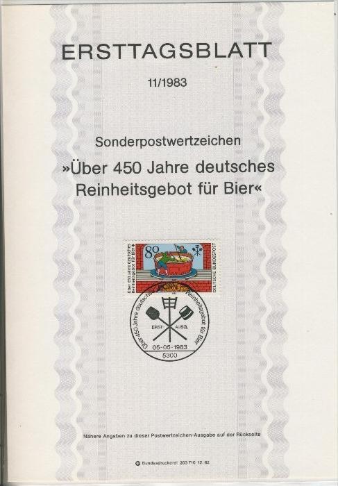BRD - ETB (Ersttagsblatt) 11/1983 0