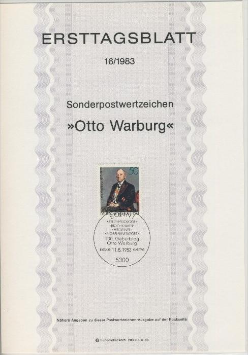 BRD - ETB (Ersttagsblatt) 16/1983 0